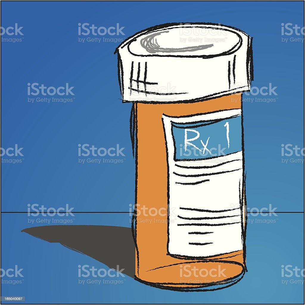 Rx Bottle Perscription royalty-free stock vector art