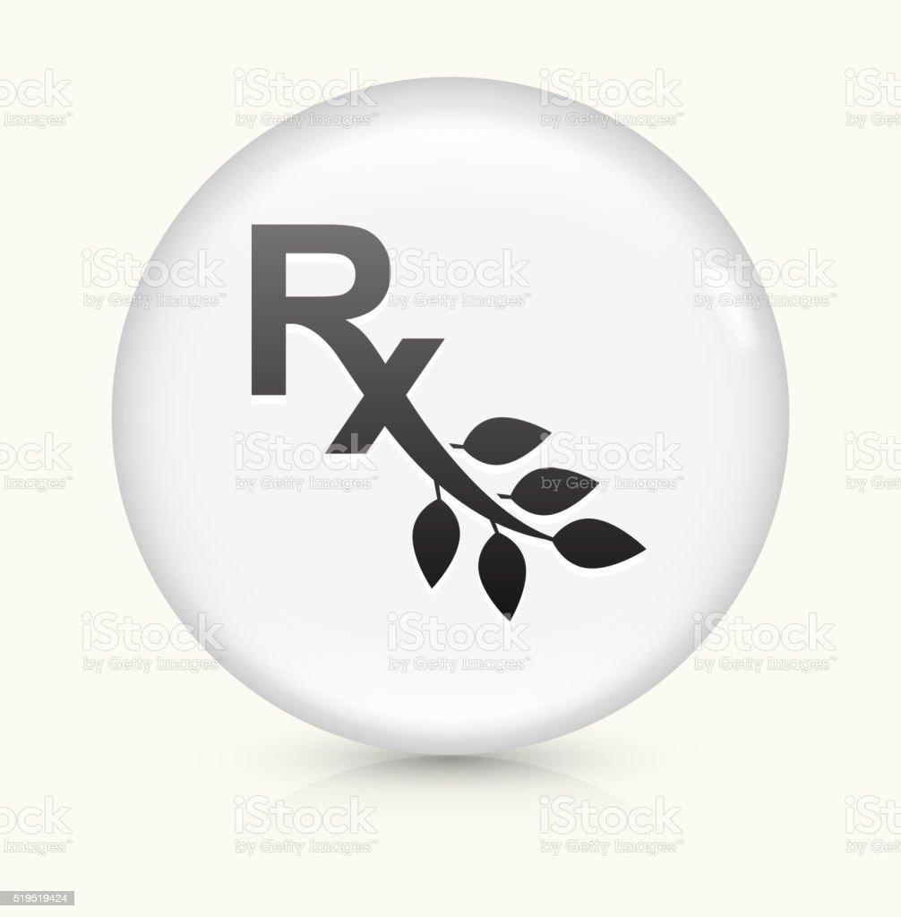Rx Prescription icon on white round vector button vector art illustration