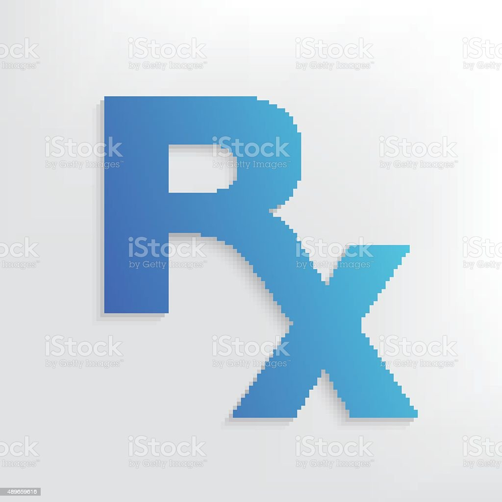 Rx symbol design on clean background,vector vector art illustration