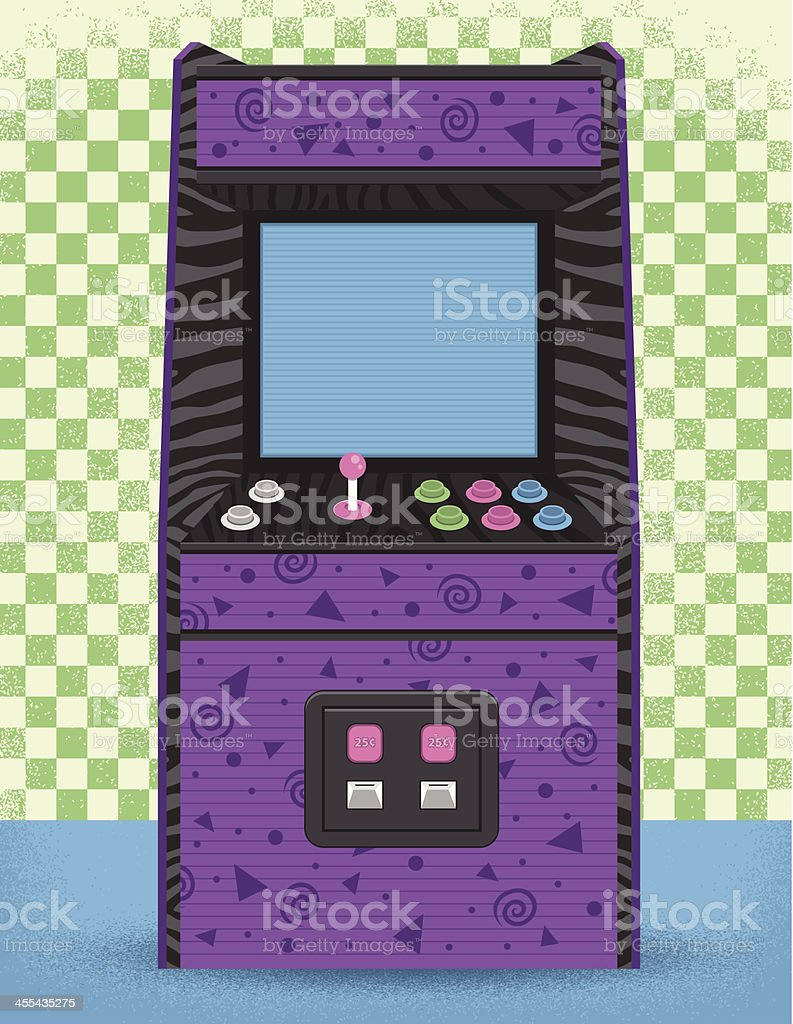 80's Arcade Machine vector art illustration