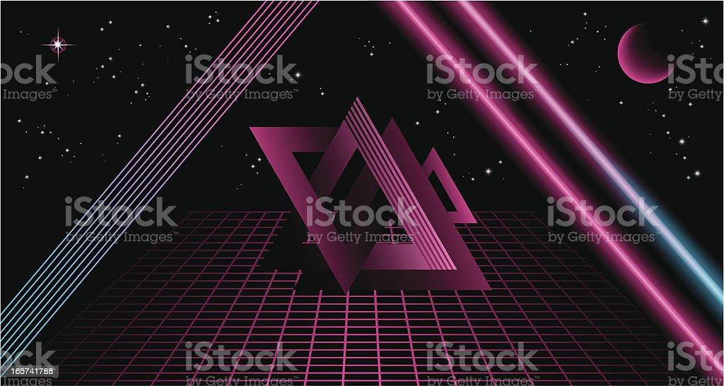 80's Background V vector art illustration