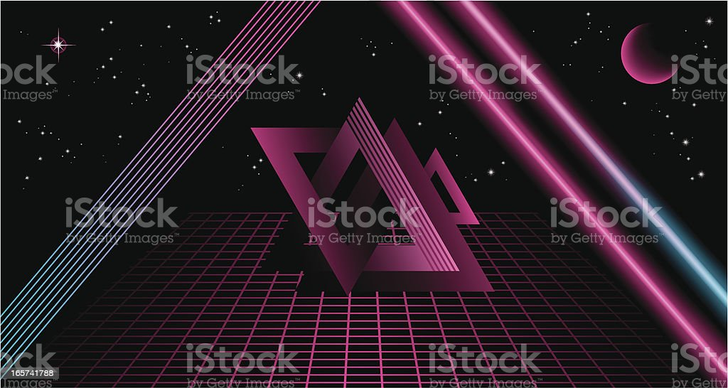 80's Background V vector art illustration