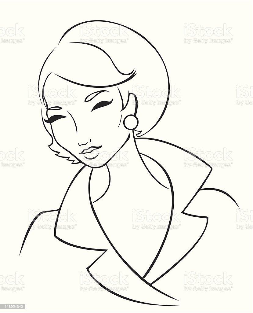 60's Lady royalty-free stock vector art