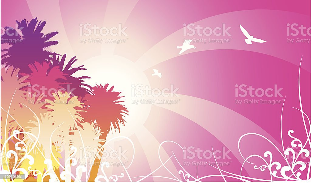 80's Summer Nights royalty-free stock vector art
