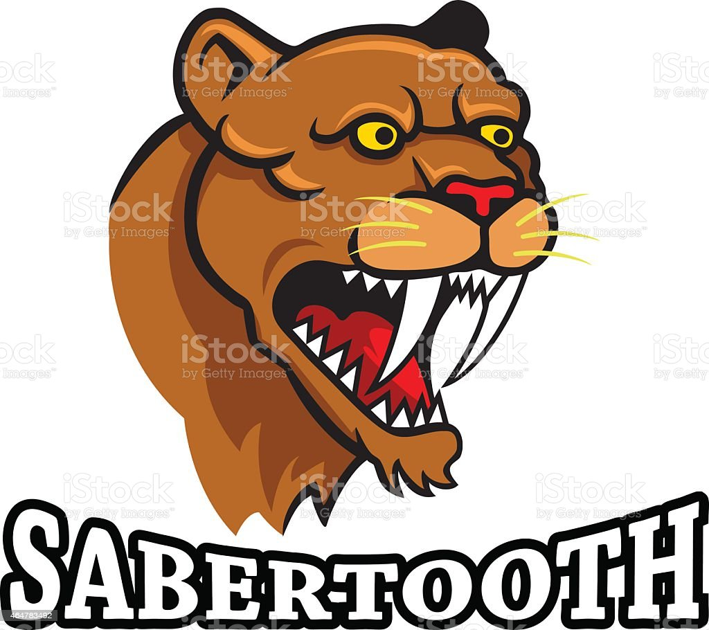Sabertooth vector art illustration