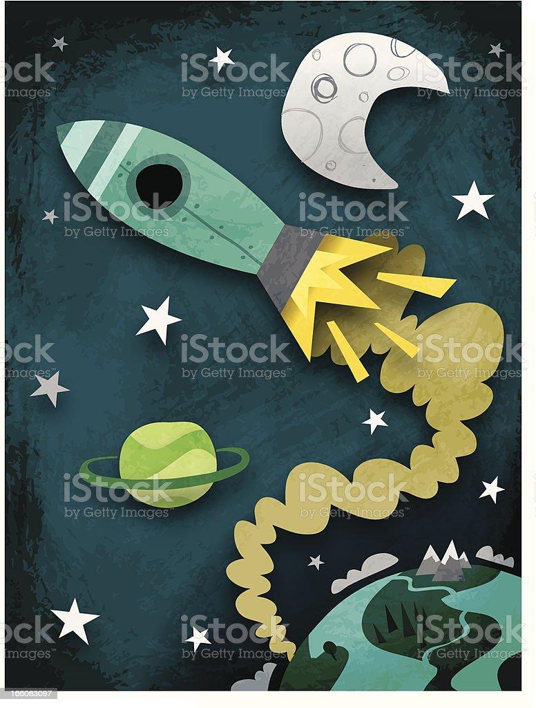 Sacetime trip vector art illustration