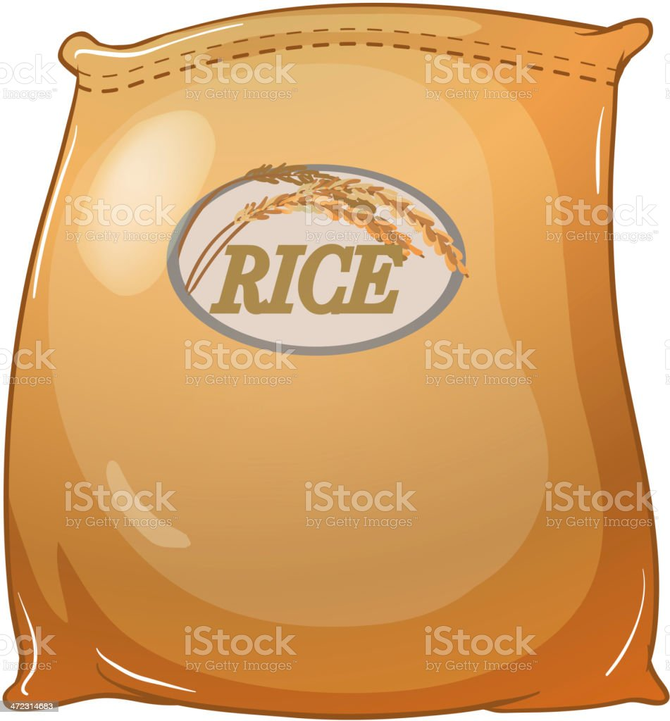 Sack of rice royalty-free stock vector art