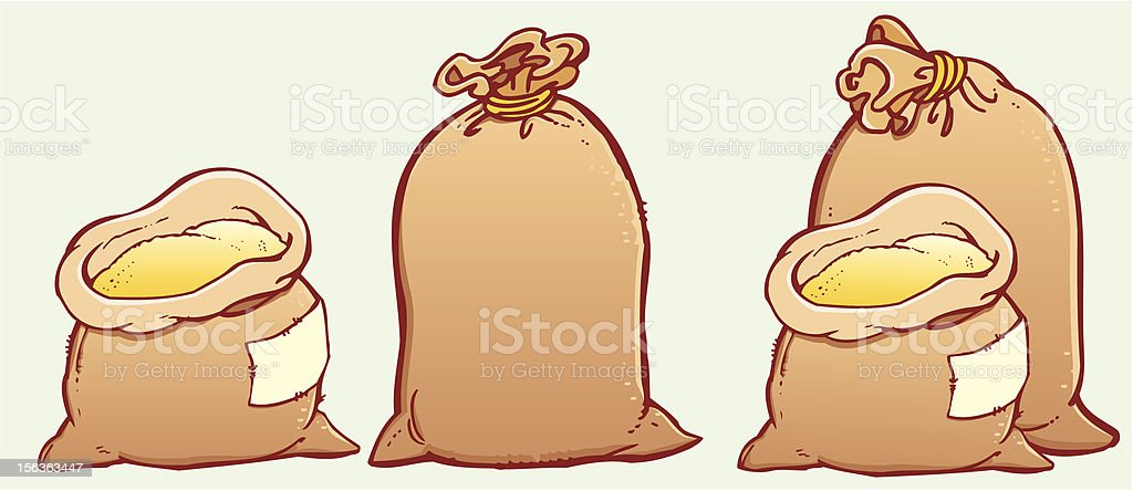 Sackes royalty-free stock vector art