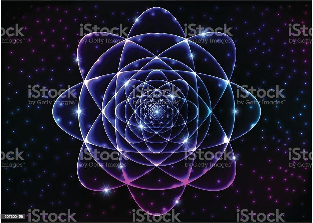 Sacred geometry symbol. Mandala mystery element vector art illustration