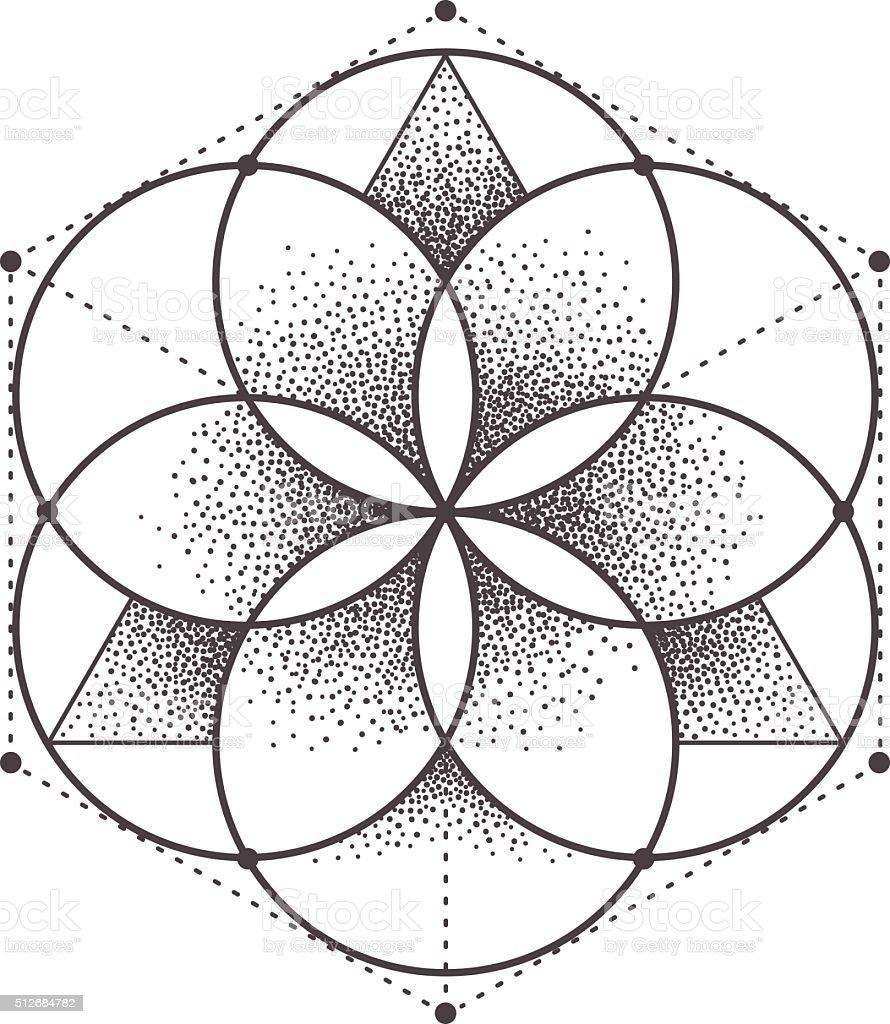 Sacred Geometry vector art illustration