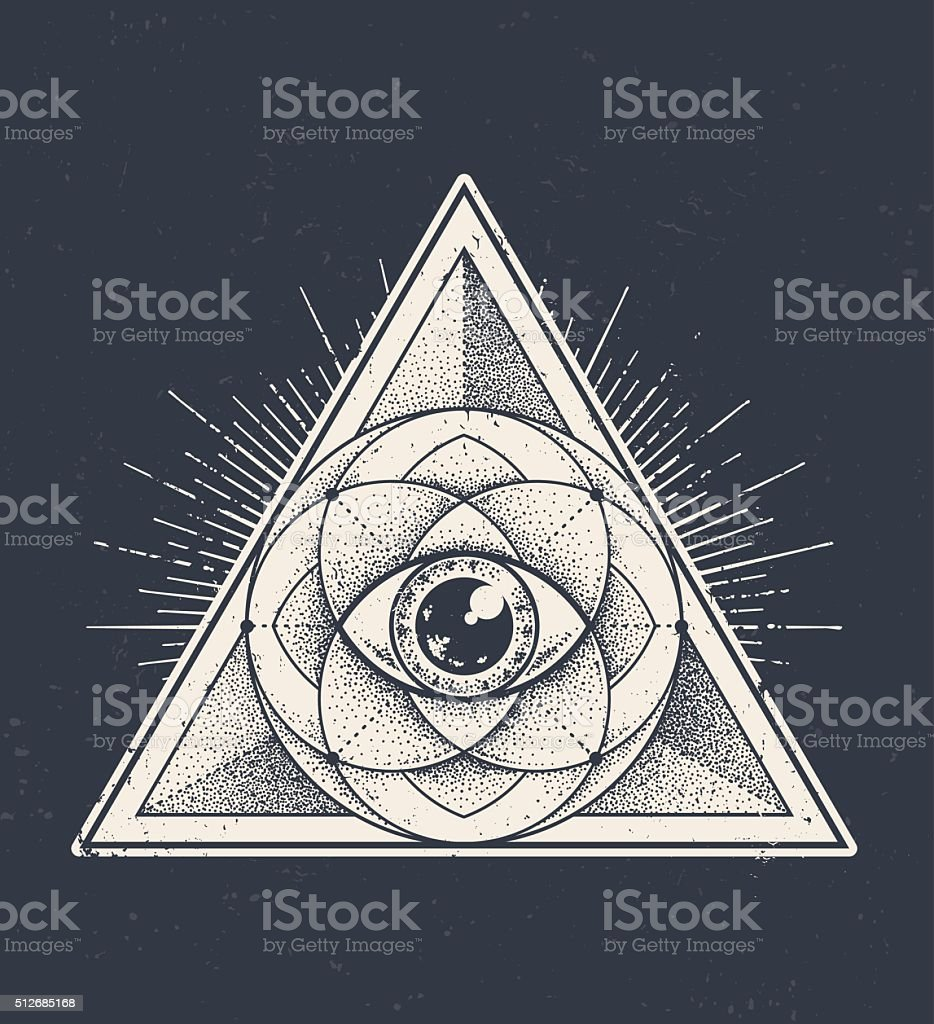 Sacred Geometry vector art illustration