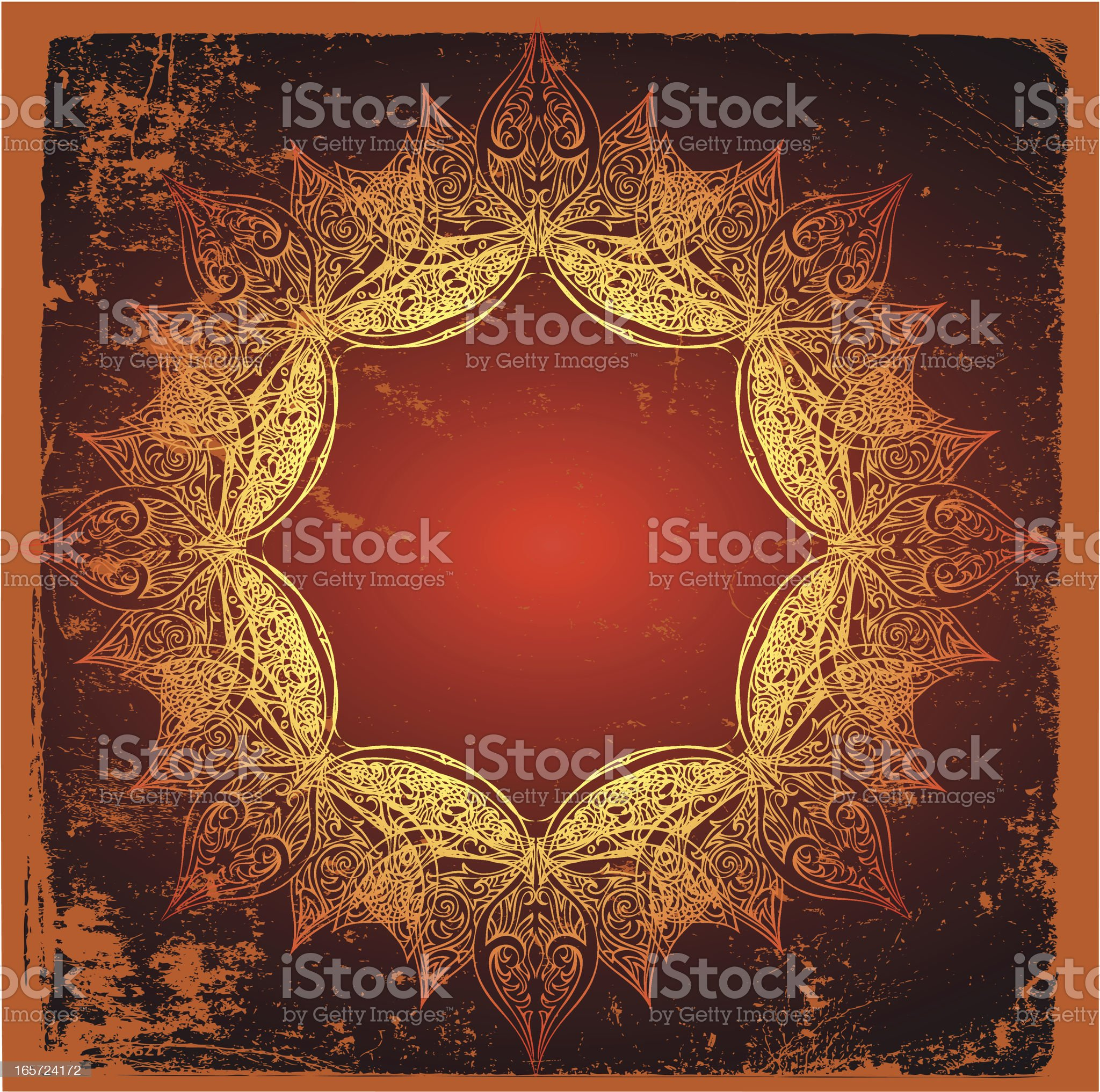sacred sun mandala royalty-free stock vector art