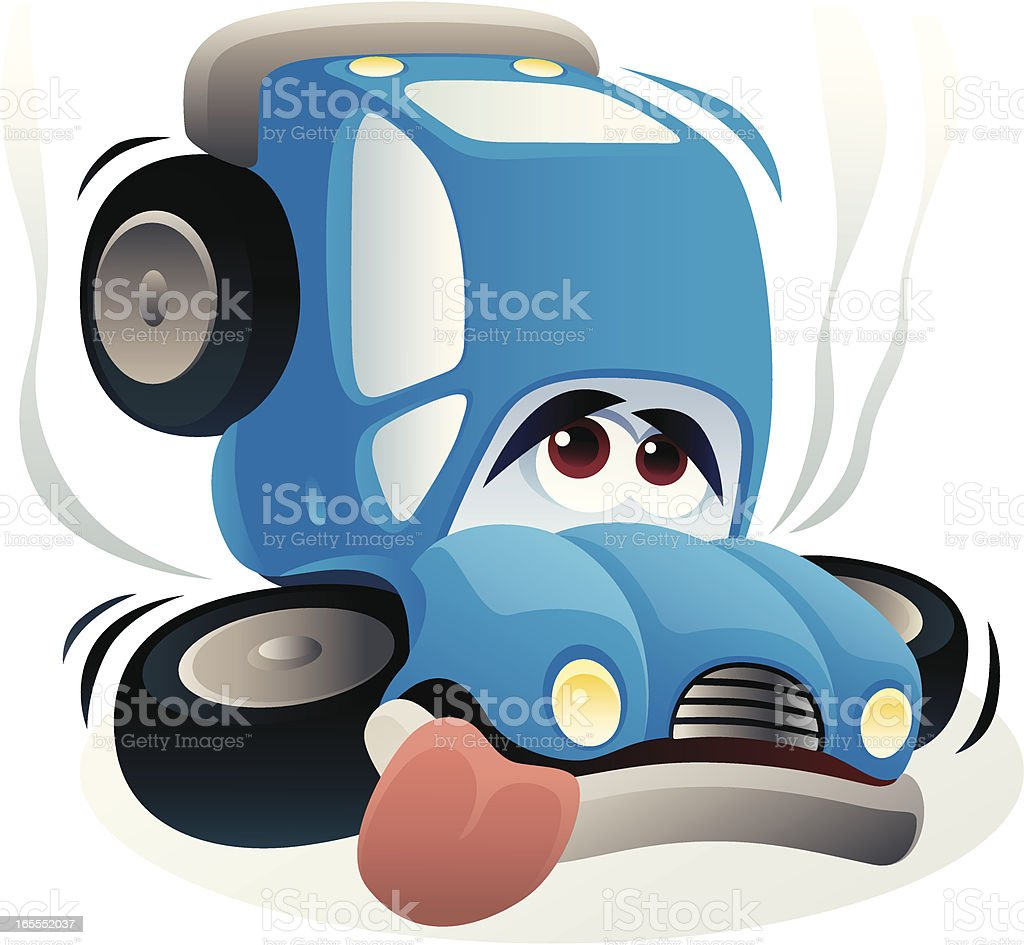 sad car royalty-free stock vector art