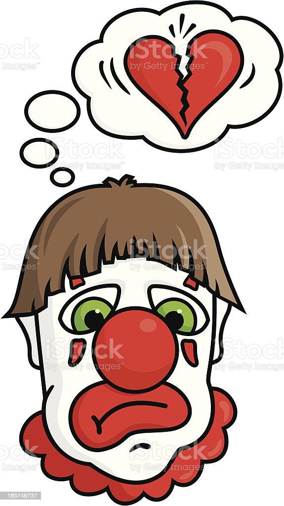 Sad Clown royalty-free stock vector art