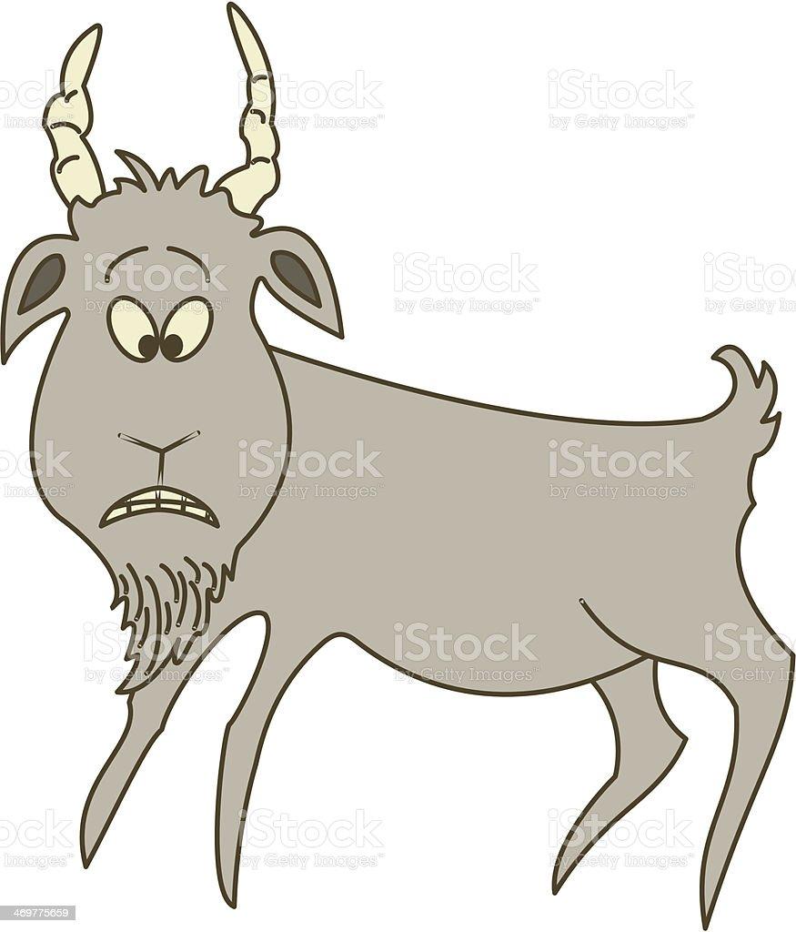 Sad grey goat royalty-free stock vector art