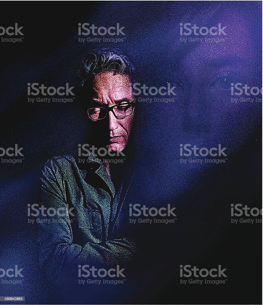 Sad Man royalty-free stock vector art