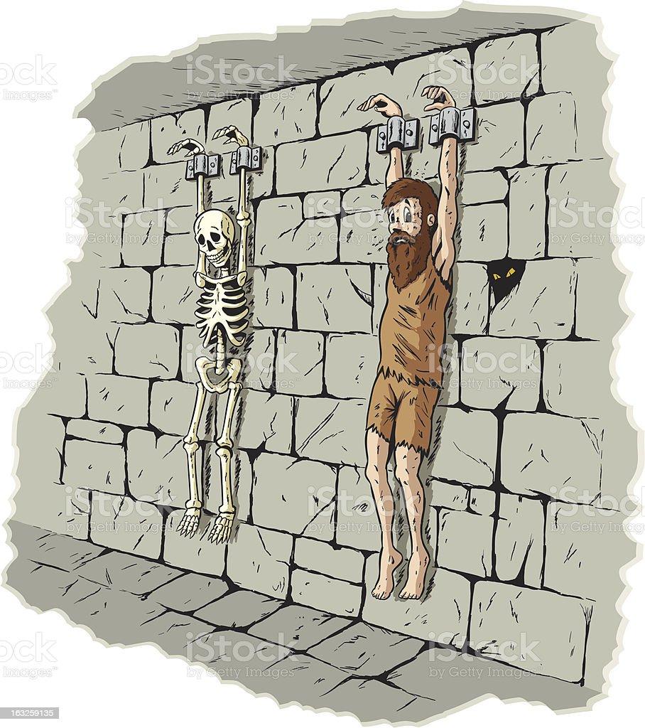 Sad prisoner royalty-free stock vector art