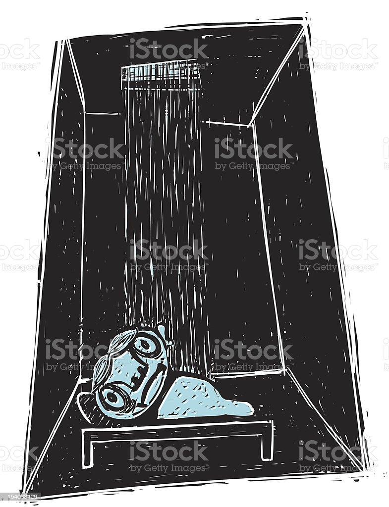 Sad Sleep royalty-free stock vector art