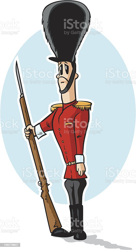 Sad toy soldier royalty-free stock vector art