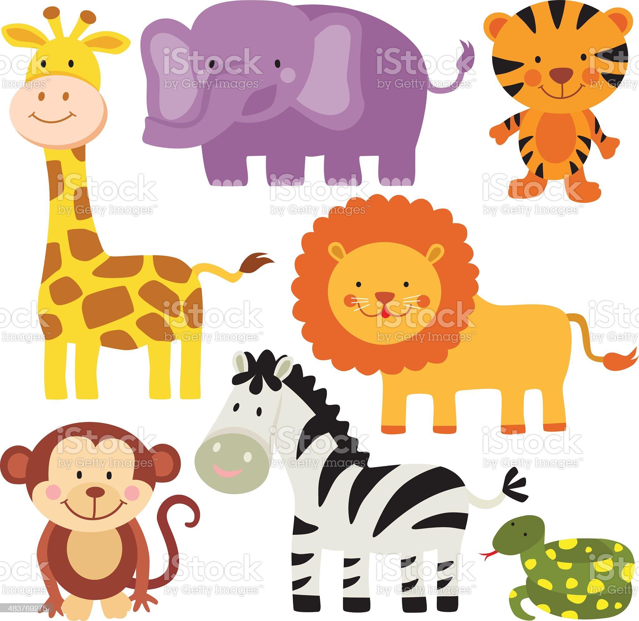 Safari Animals royalty-free stock vector art