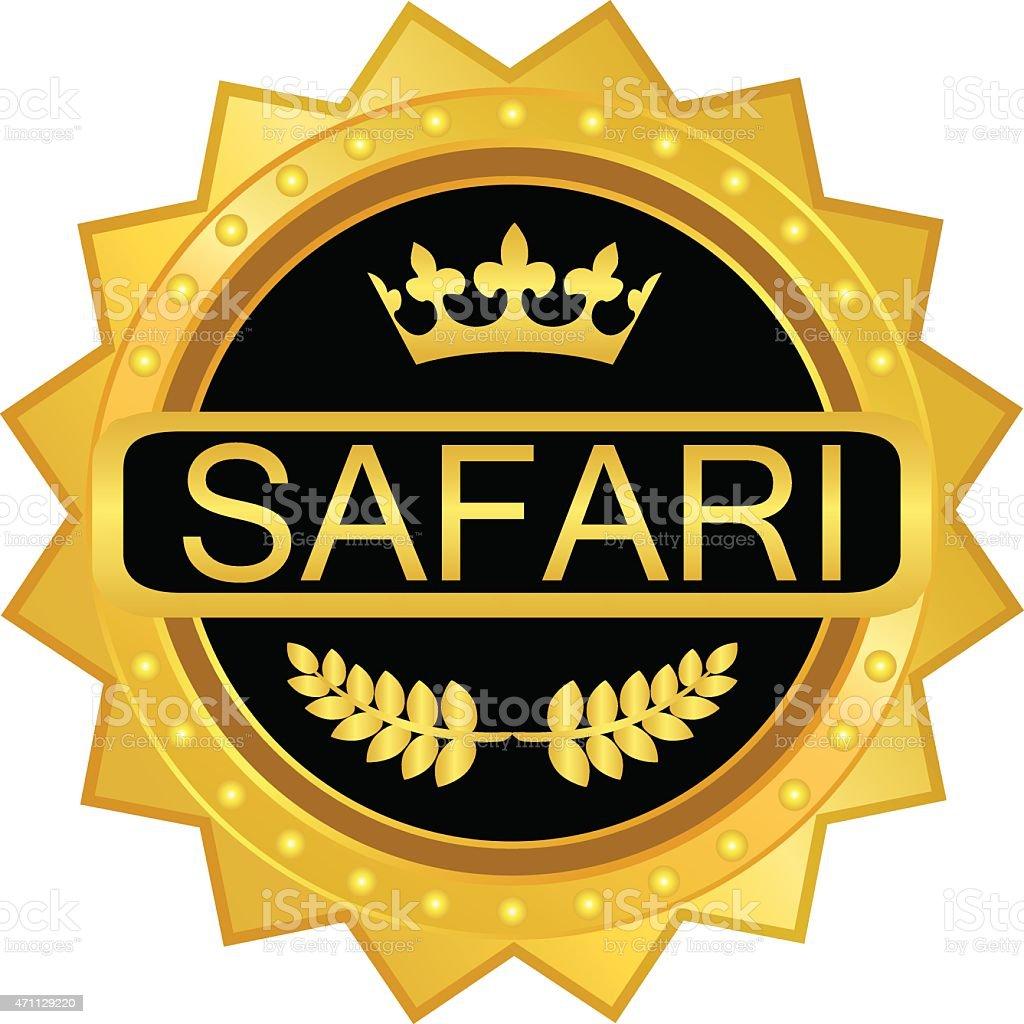 Safari Gold Label vector art illustration