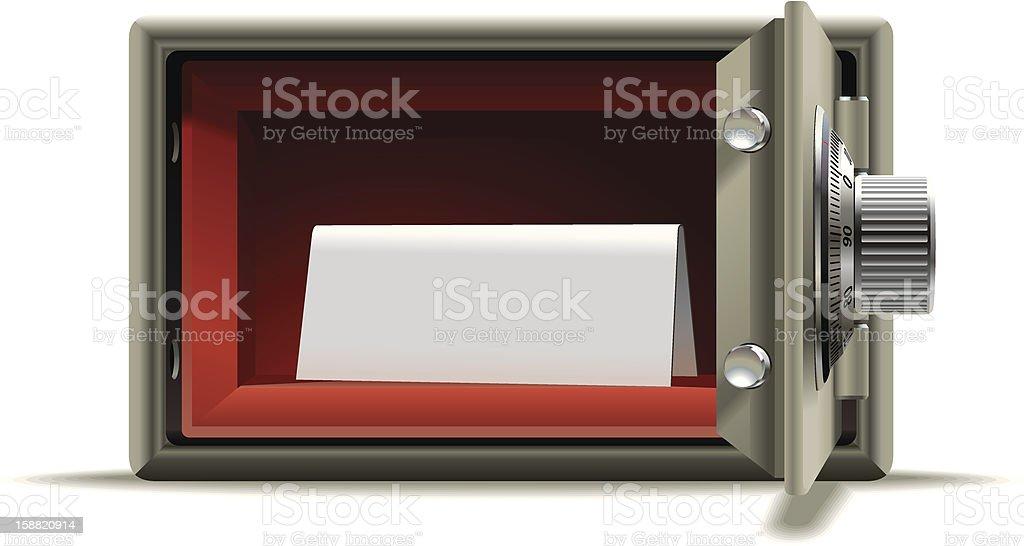 Safe deposit blank royalty-free stock vector art