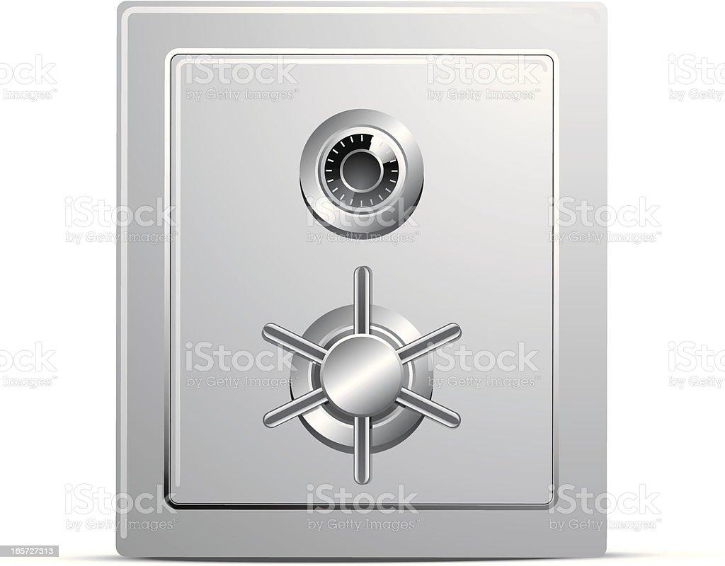 Safe Door vector art illustration