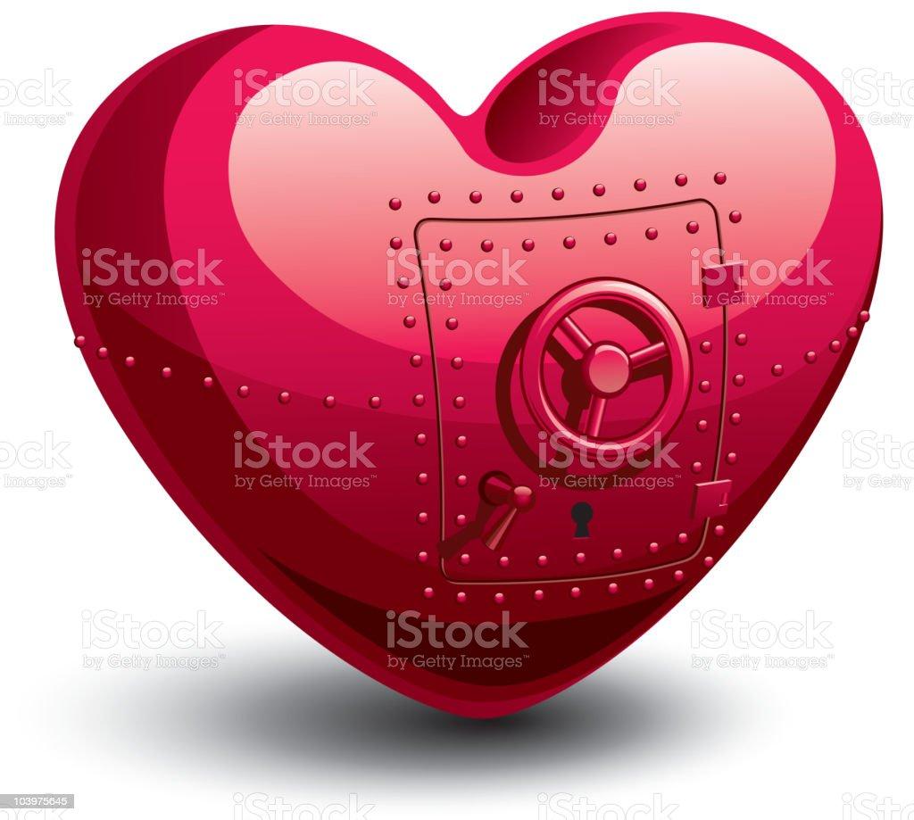Safe heart royalty-free stock vector art