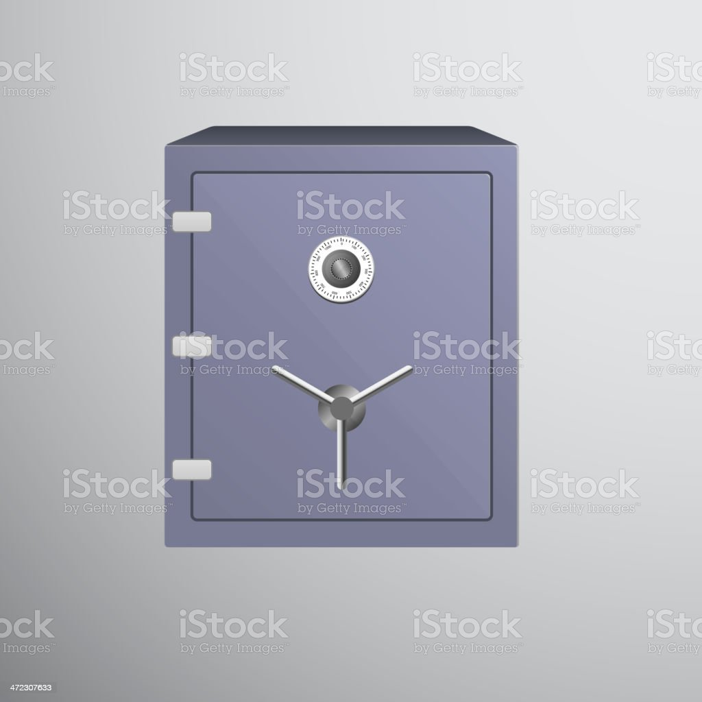 Safe icon isolated on dark background royalty-free stock vector art