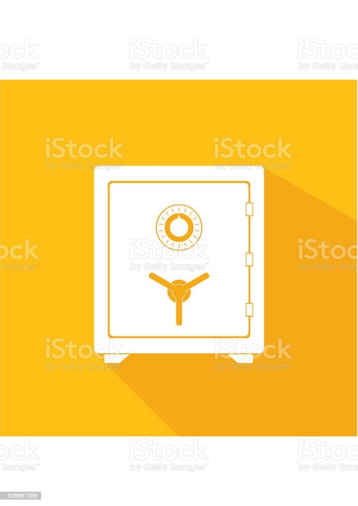 Safe icon. Metal box secure and money concept symbol vector art illustration
