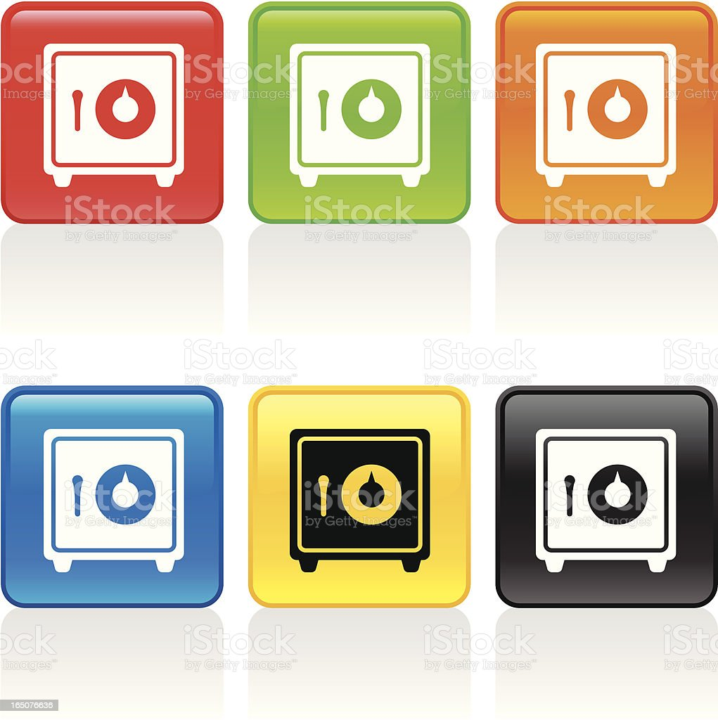 Safe Icon vector art illustration