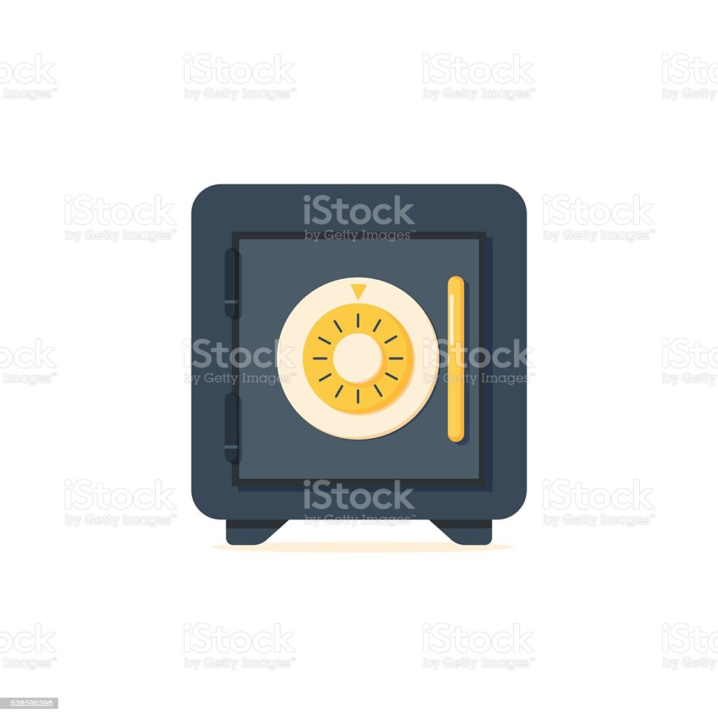 Safe vector icon in a flat style. vector art illustration