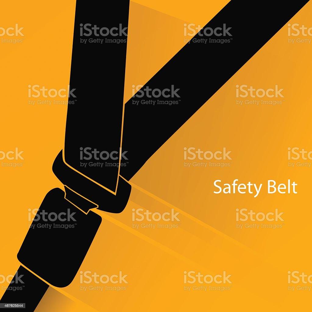 Safety belt concept vector art illustration