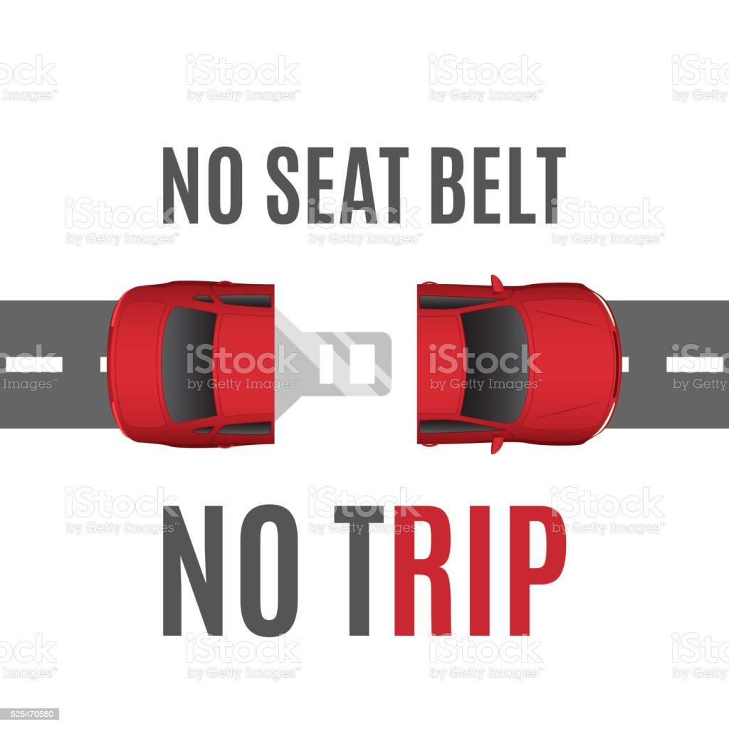 Safety belt conceptual background. vector art illustration