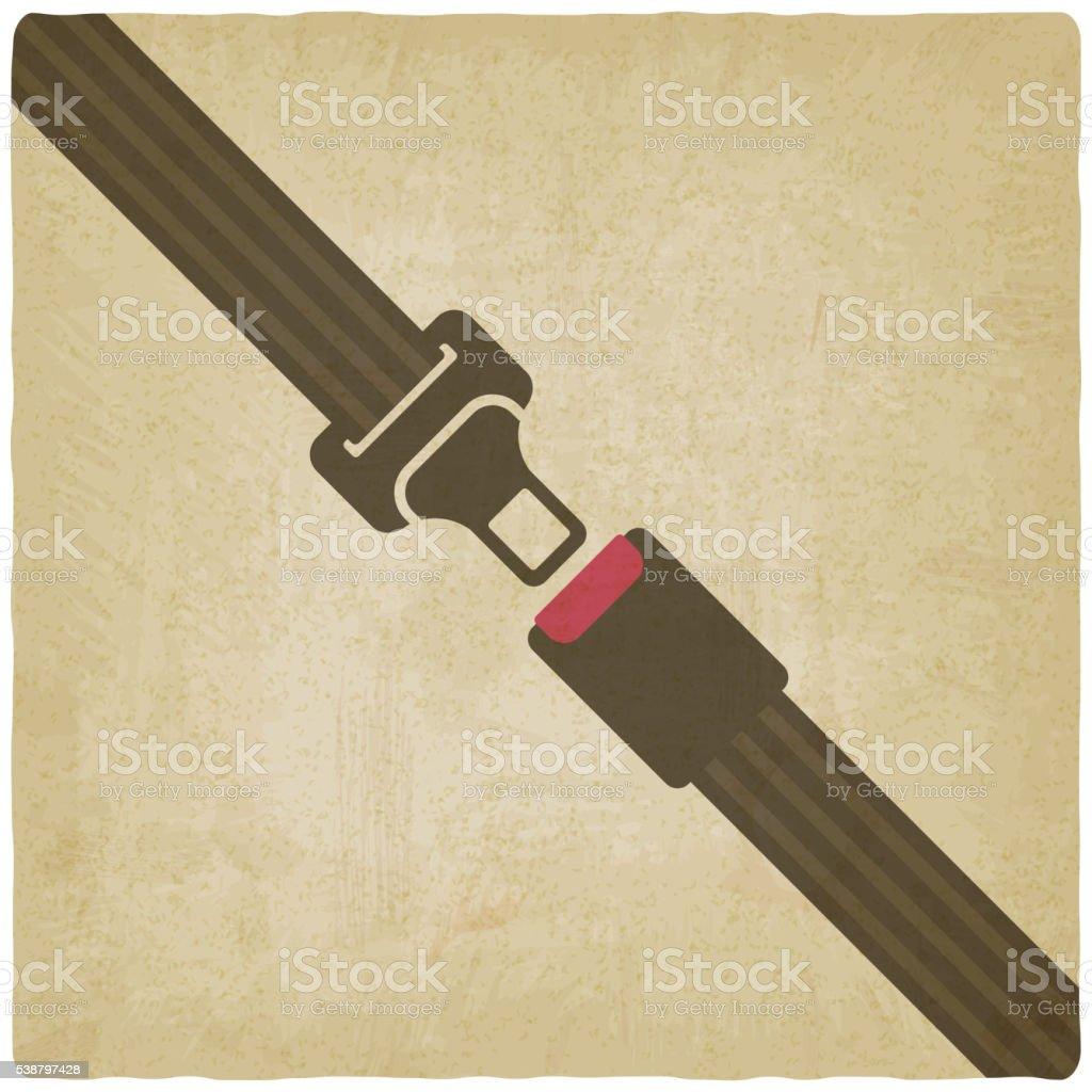 safety belt old background vector art illustration