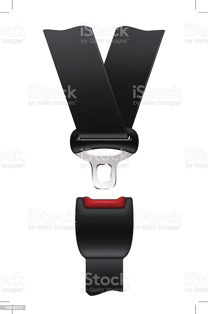 Safety belt vector art illustration