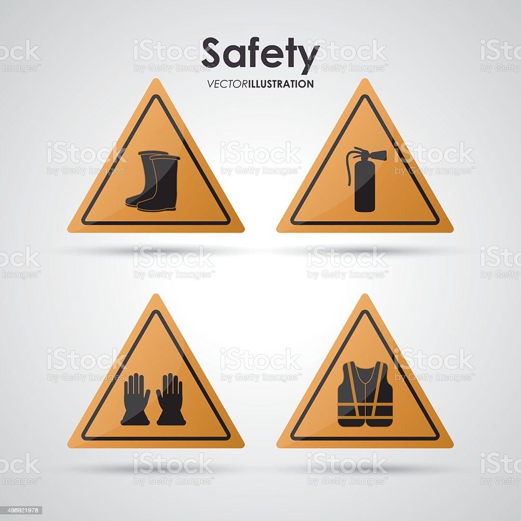 Safety equipment design vector art illustration