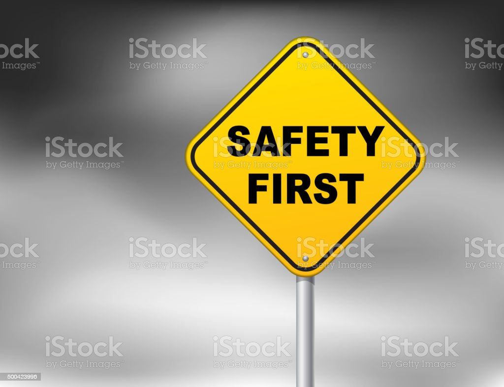 Safety first vector art illustration
