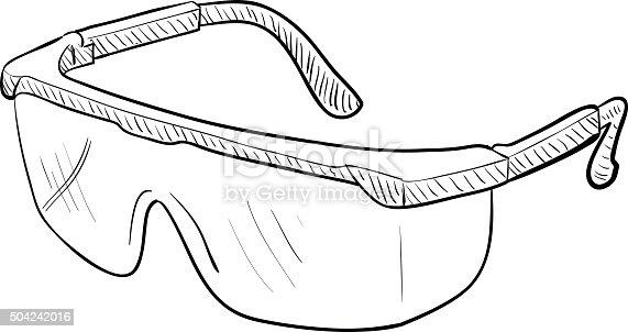 lab goggles cartoon