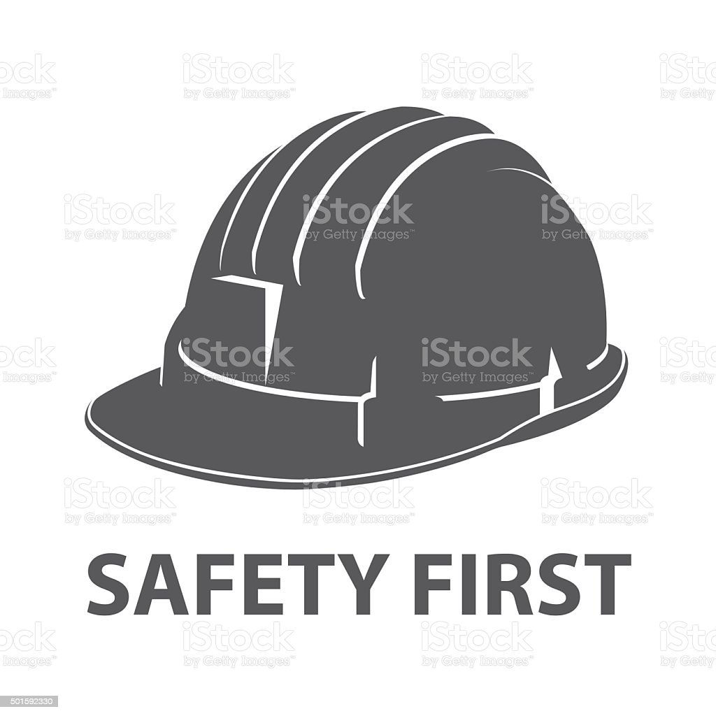 Safety hard hat icon symbol vector art illustration