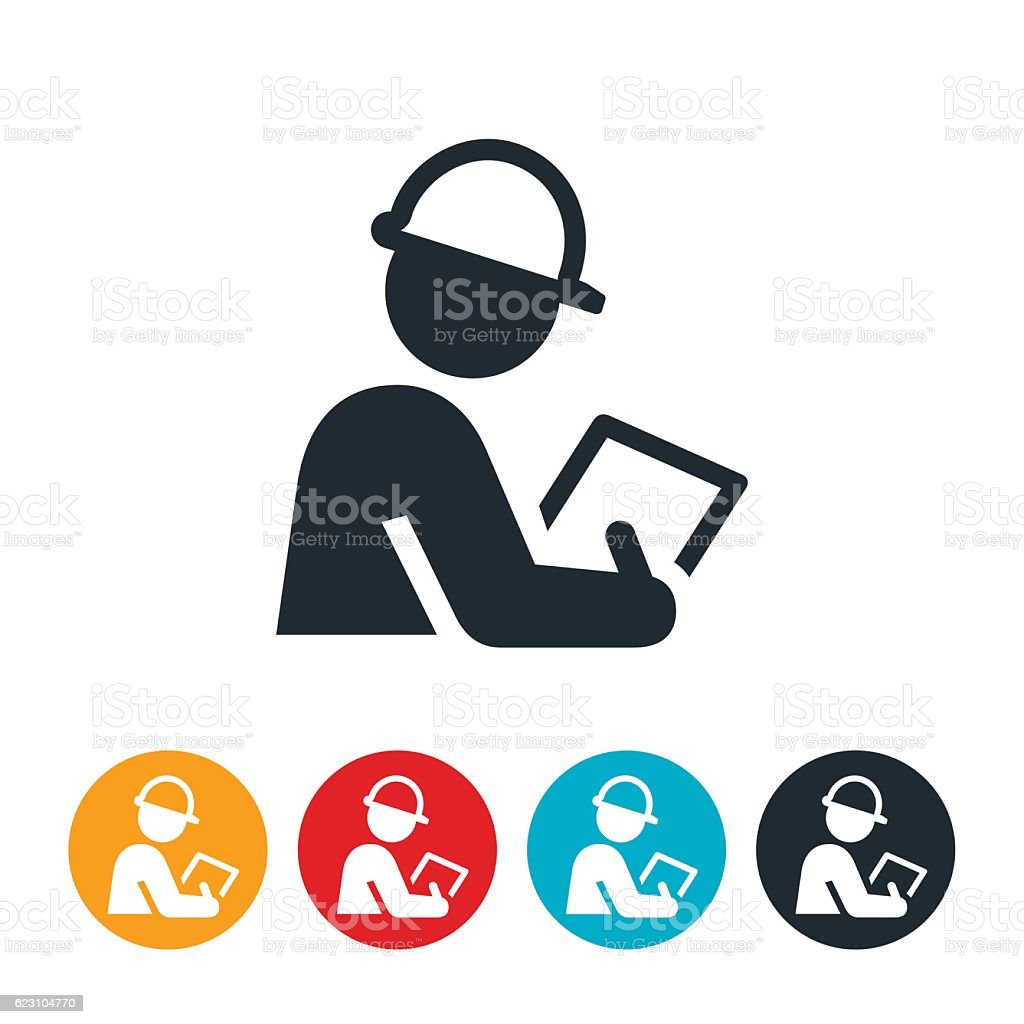 Safety Inspector Icon vector art illustration