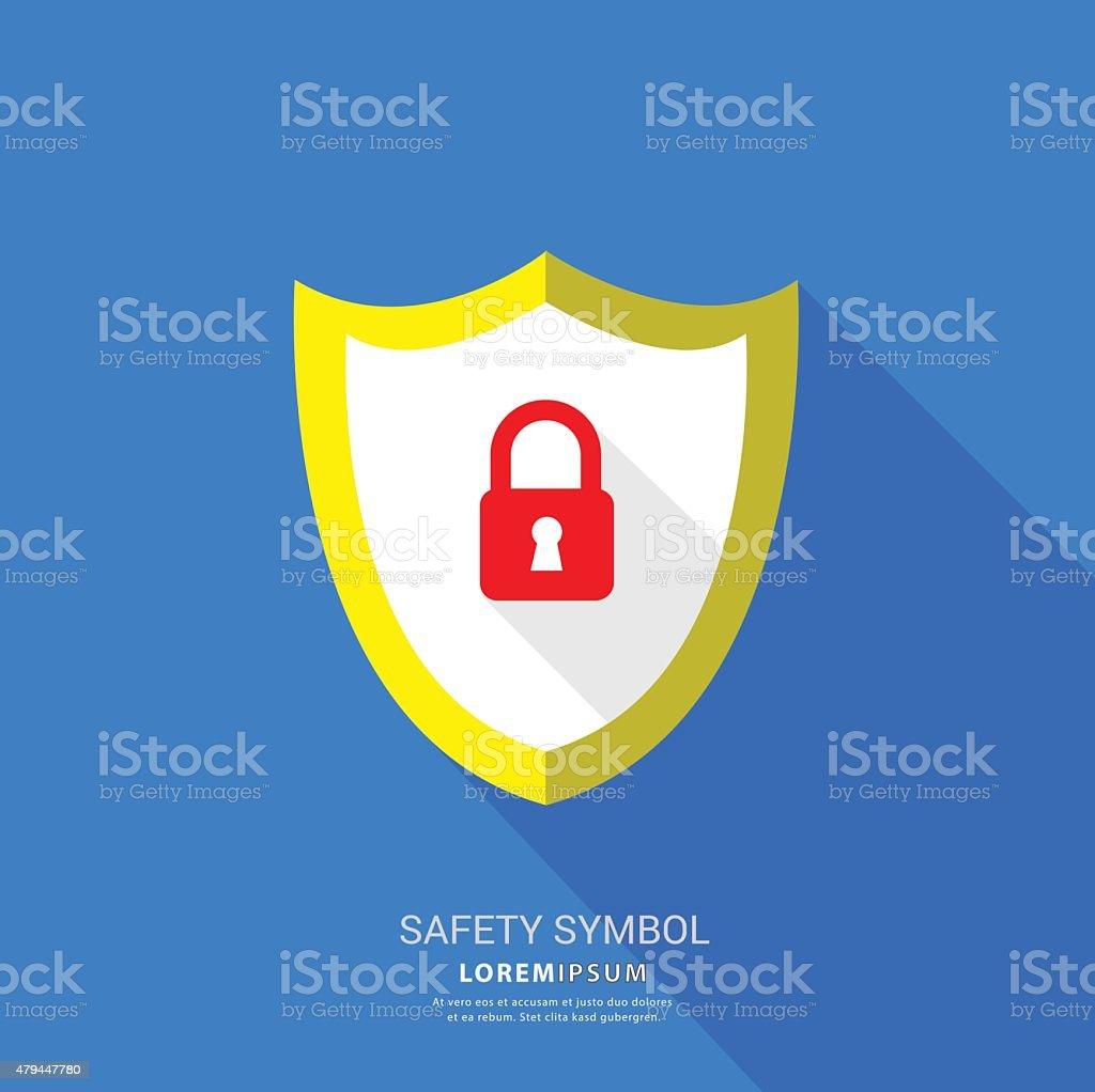 Safety lock symbol. vector art illustration