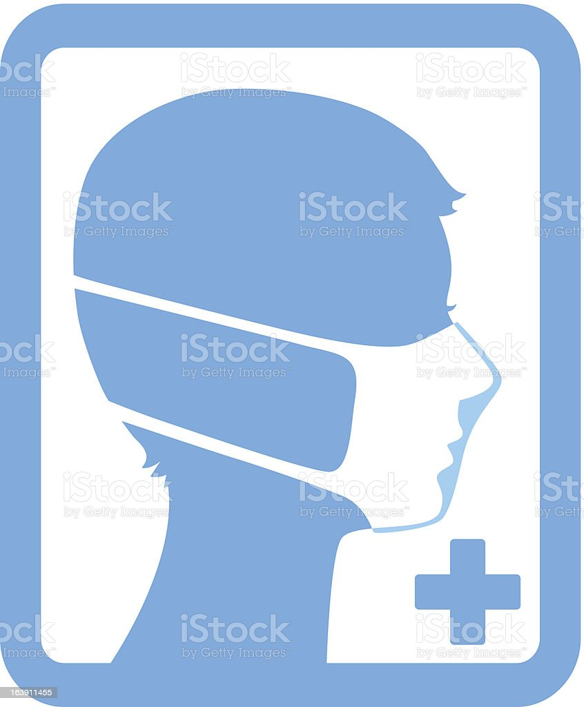 Safety mask vector art illustration