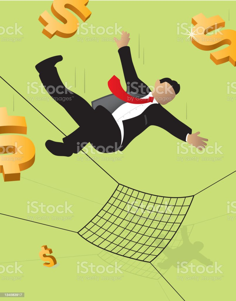 Safety net vector art illustration