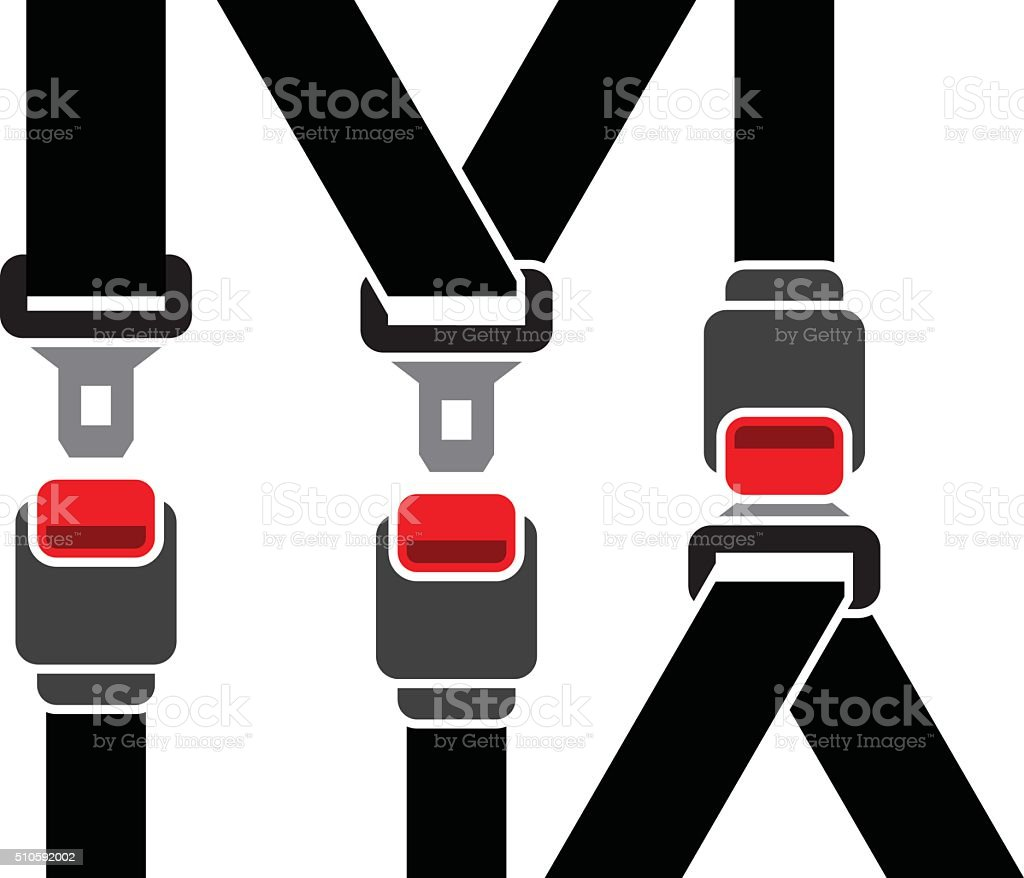 Safety seatbelt vector art illustration