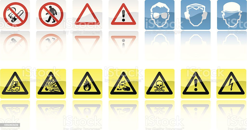 Safety Signs vector art illustration