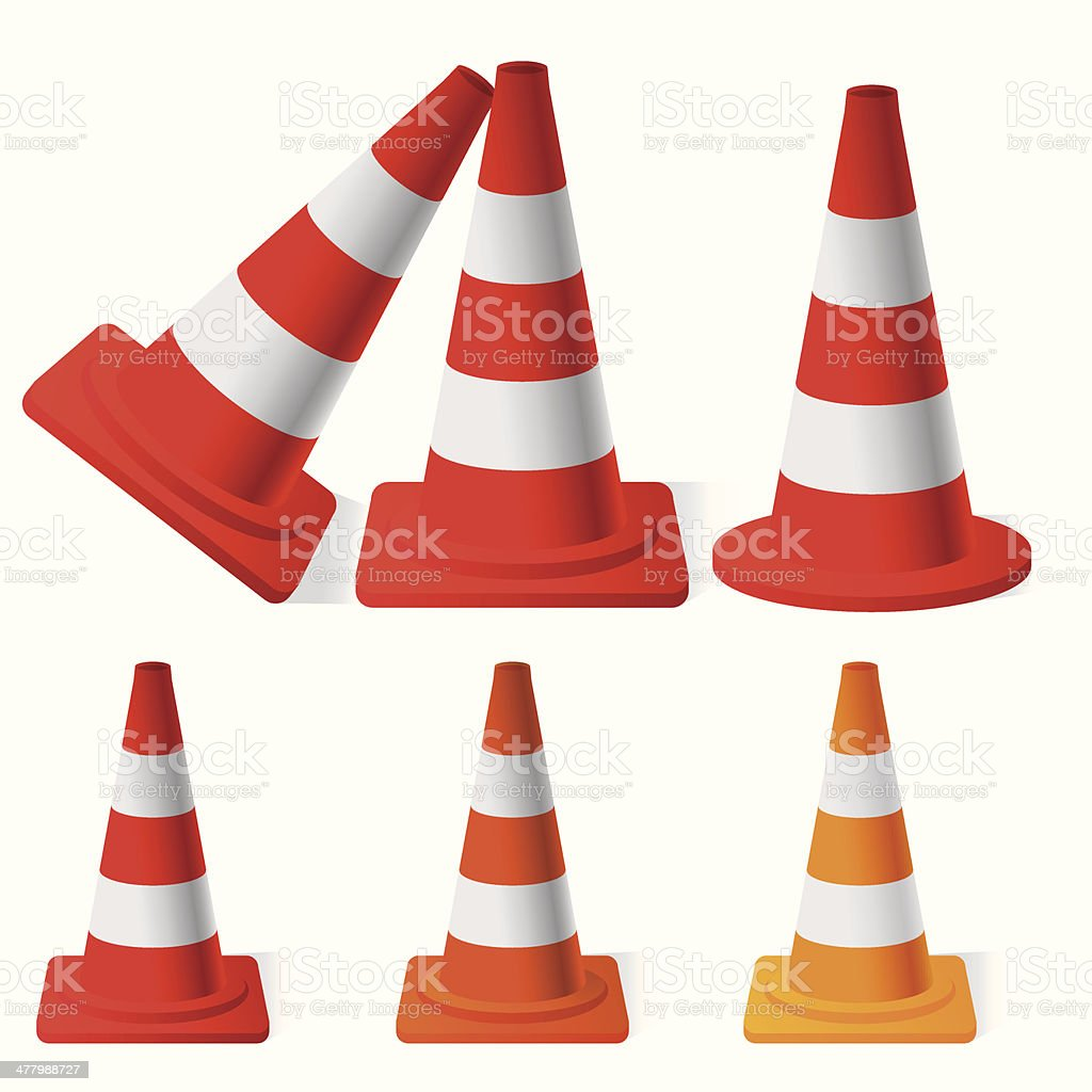 Safety Traffic Cones royalty-free stock vector art