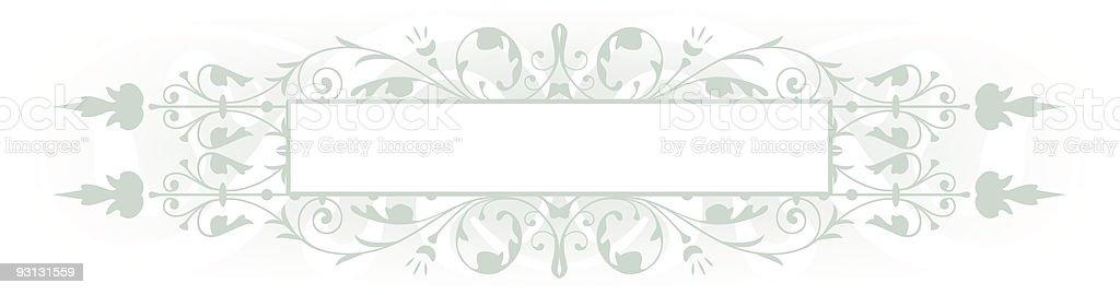 Sage Banner royalty-free stock vector art