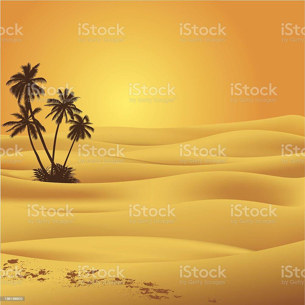 Sahara desert vector art illustration