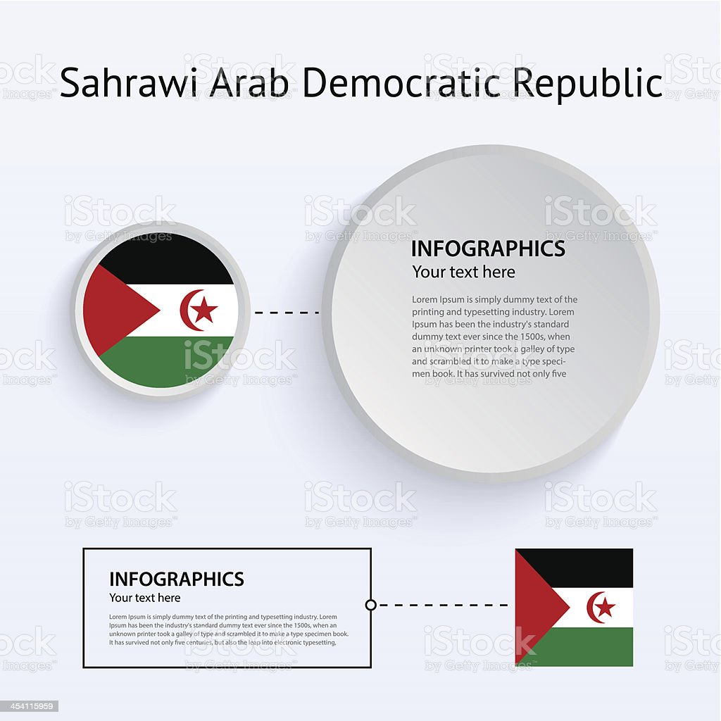 Sahrawi Arab Democratic Republic Country Set of Banners. vector art illustration